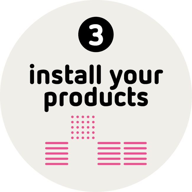 Blinkink Install your products